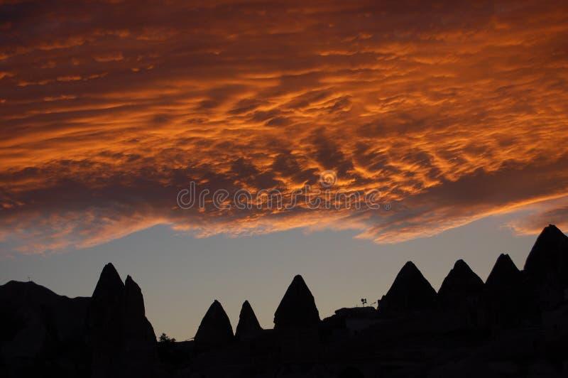 cappadocia zmierzch zdjęcie stock