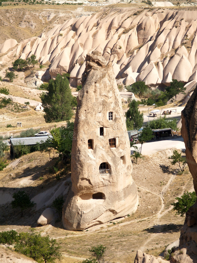 cappadociabildandesandsten royaltyfri bild