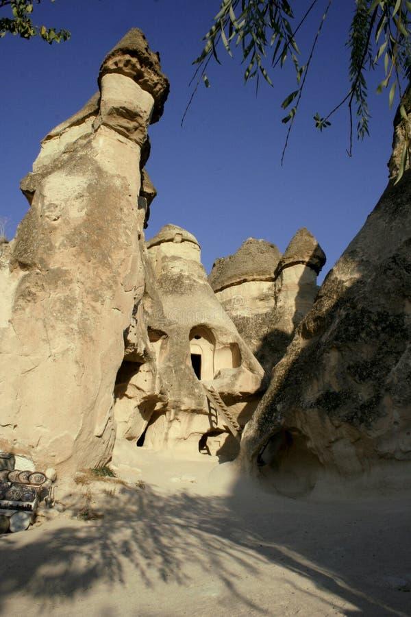 cappadociafaeriehus royaltyfria bilder