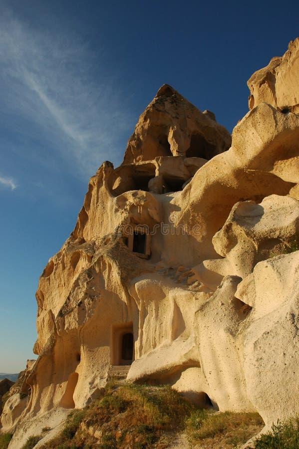 cappadociahus royaltyfria bilder