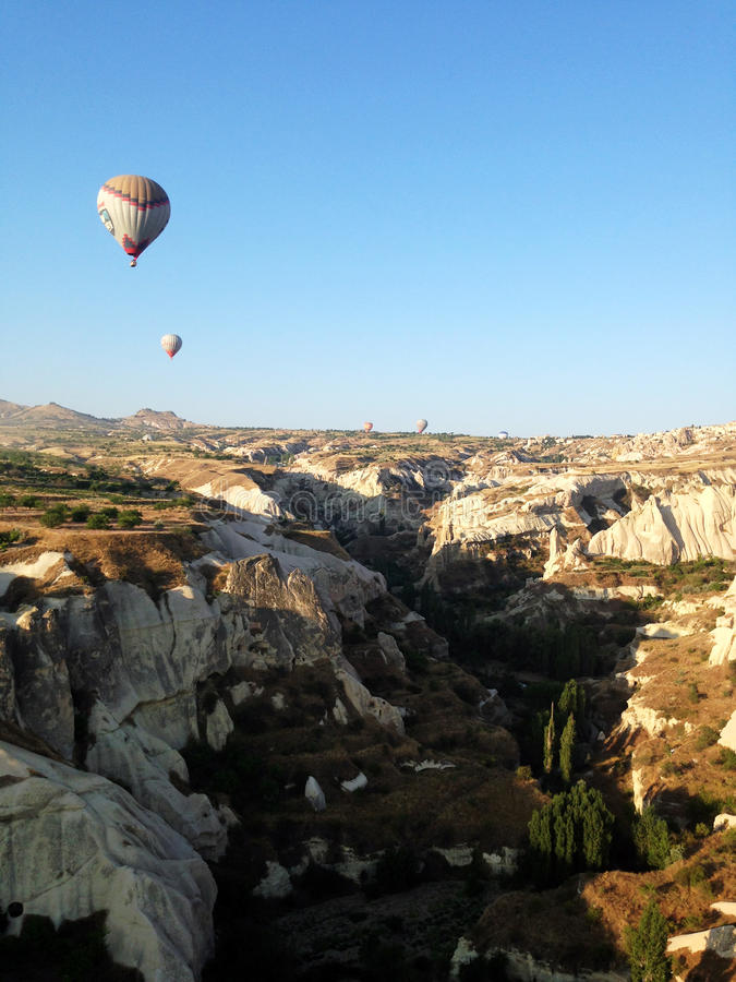 Cappadocialandschap bullon stock afbeelding