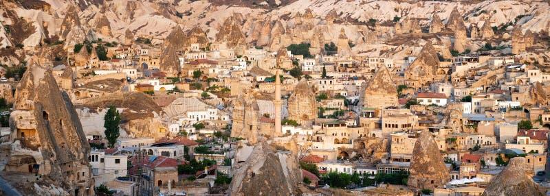 Cappadocian风景Goreme,土耳其 图库摄影