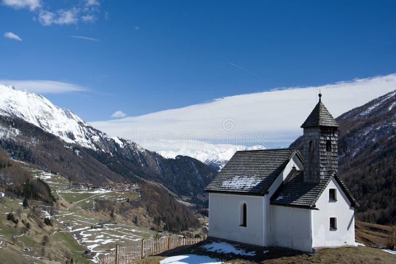 Cappella ad Alp Islitzer, Tirolo orientale, Austria fotografie stock