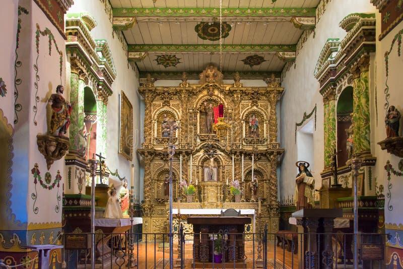 Cappella alla missione San Juan Capistrano fotografia stock libera da diritti