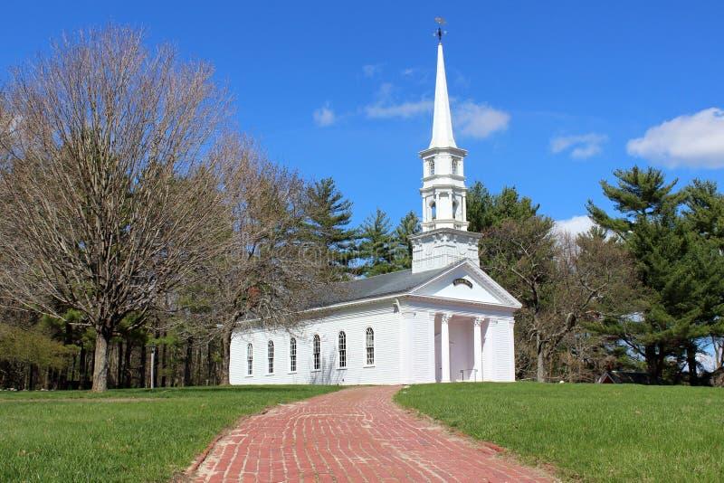 Cappella bianca della Nuova Inghilterra immagine stock libera da diritti