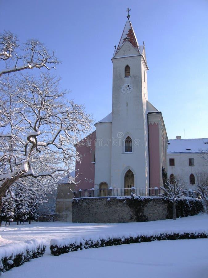 Cappella, castello Bitov, Repubblica ceca, Europa immagini stock libere da diritti