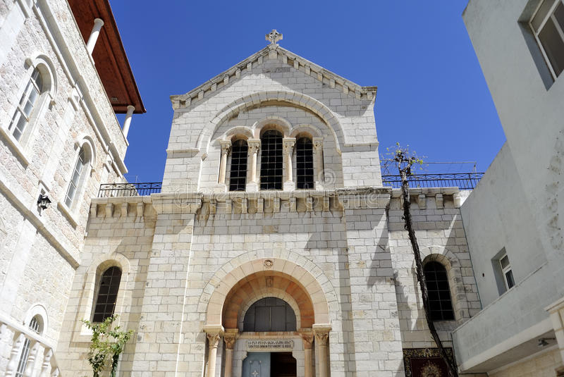 Cappella cattolica polacca, Gerusalemme. immagini stock libere da diritti