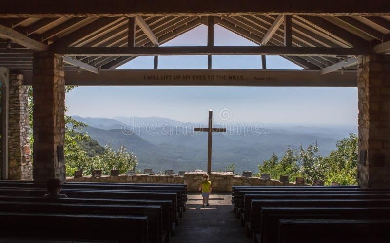 Cappella Cedar Mountain Innocence South Carolina della montagna di Symmes fotografia stock libera da diritti