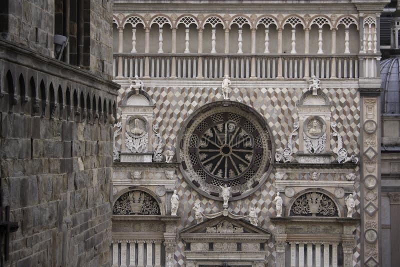 Cappella Colleoni em Bergamo imagem de stock