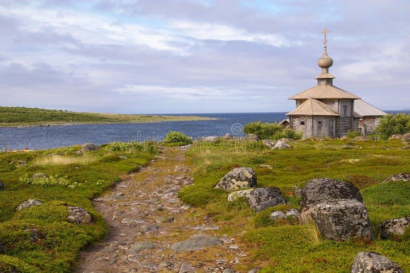 Cappella del Andrew del san sulla maggior isola di Zayatsky fotografia stock