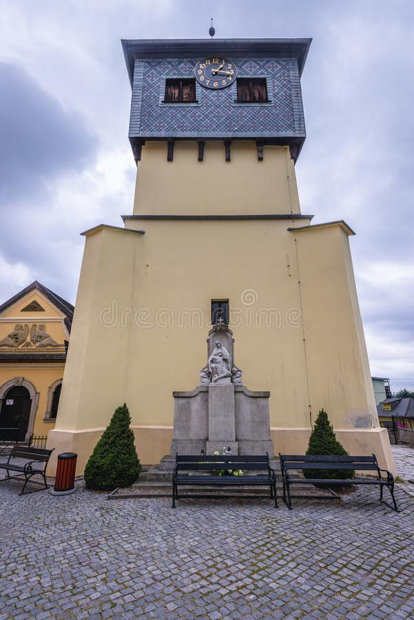 Cappella del cranio nella città di Kudowa Zdroj fotografie stock libere da diritti