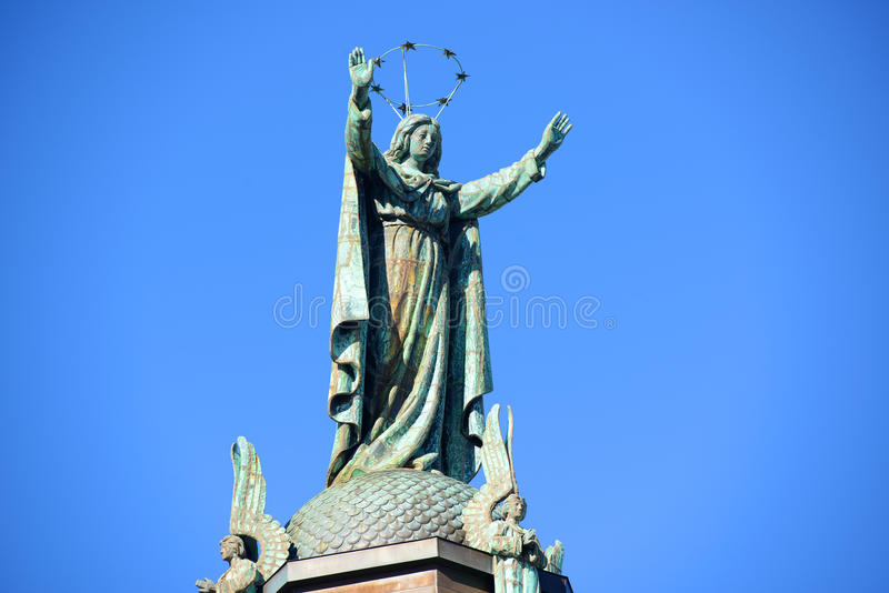Cappella del Notre-Dame-de-Bon-Secours, Montreal fotografia stock