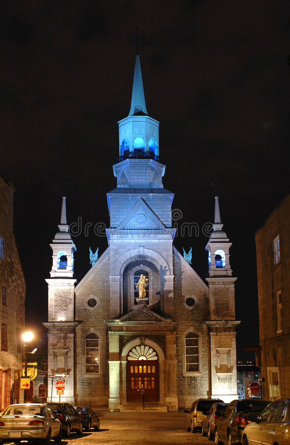 Cappella del Notre-Dame-de-Bonsecours a Montreal fotografia stock libera da diritti
