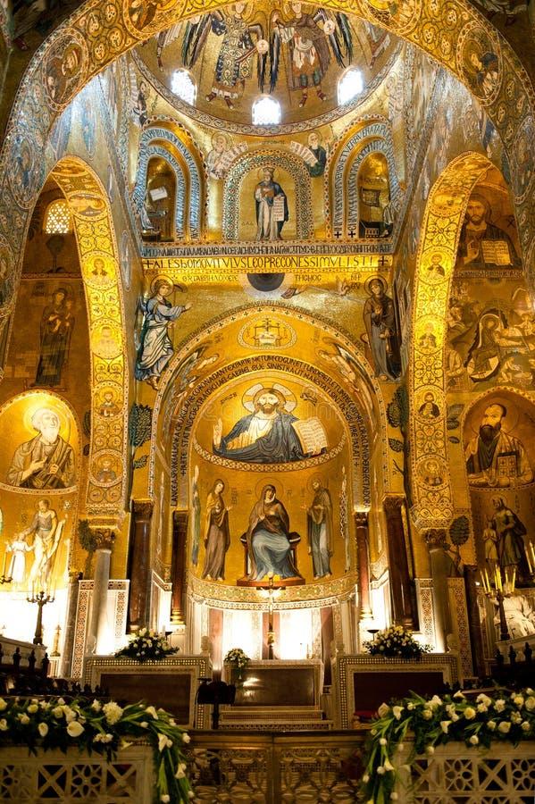 Cappella del palatino - Palermo, Sicilia fotografia stock libera da diritti