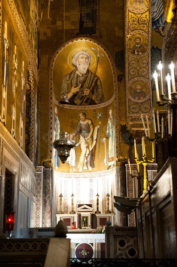 Cappella del palatino - Palermo, Sicilia fotografia stock