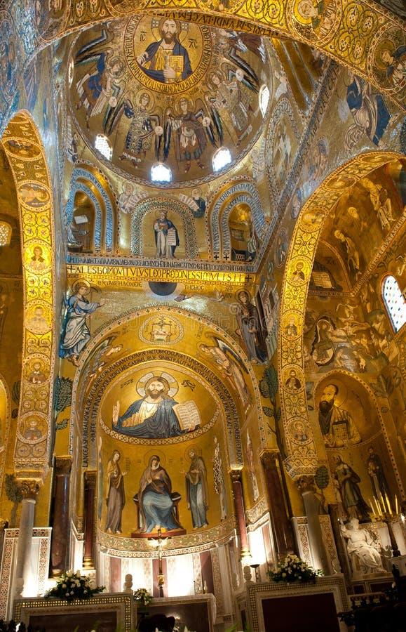 Cappella del palatino - Palermo, Sicilia immagini stock
