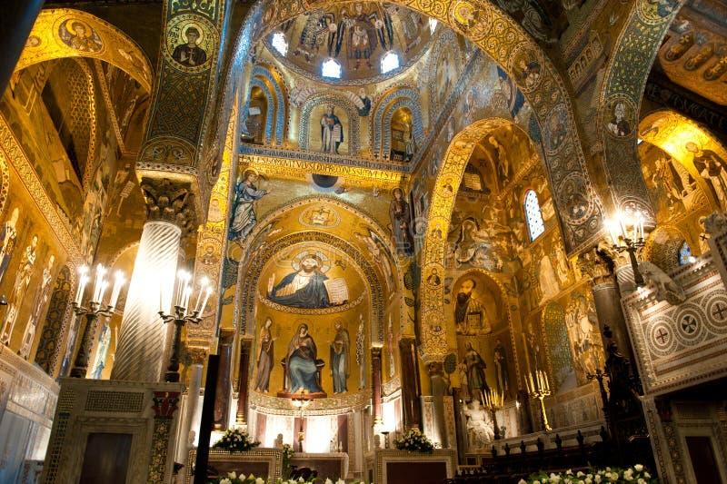 Cappella del palatino - Palermo, Sicilia immagini stock libere da diritti