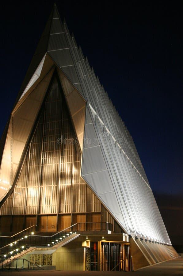 Cappella dell'accademia alla notte fotografia stock libera da diritti