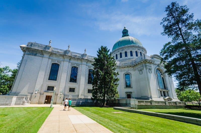 Cappella dell'Accademia Navale degli Stati Uniti - Annapolis, MD fotografia stock