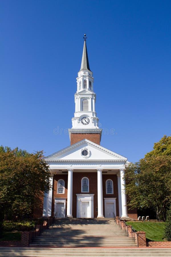 Cappella dell'università del Maryland fotografia stock