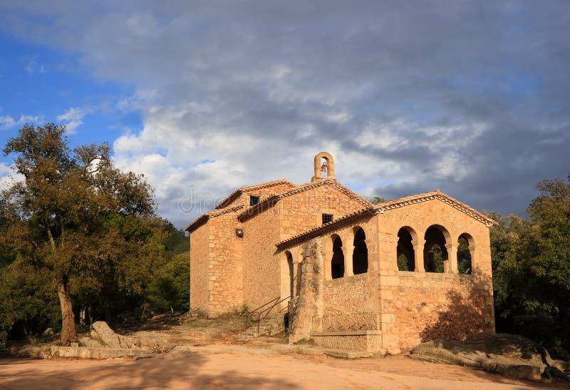 Cappella della Mare de Deu de Farners (Catalogna, Spagna) fotografia stock libera da diritti