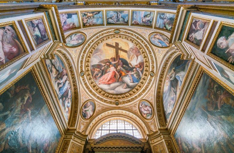 Cappella della passione, nella chiesa di Gesù a Roma, l'Italia fotografia stock libera da diritti