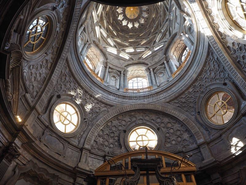 Cappella della Sindone圆顶在都灵 免版税库存图片