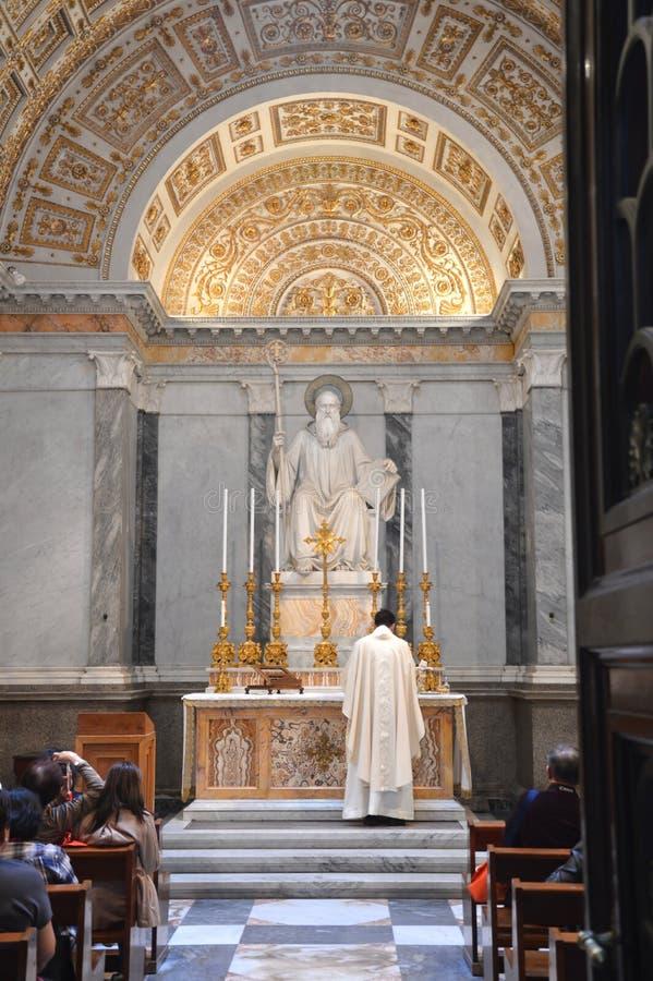 Cappella della st Benedict al fuori le Mura di Papale San Paolo della basilica fotografia stock