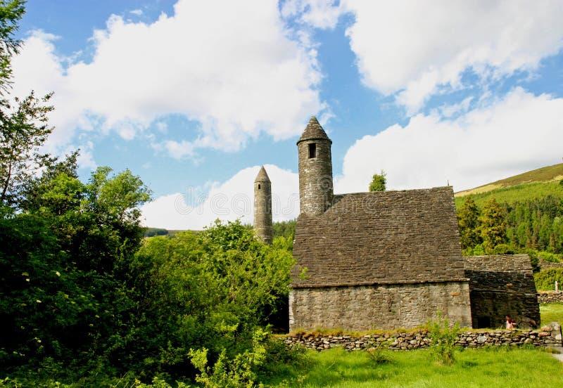Cappella della st Kevin a Glendalough fotografia stock