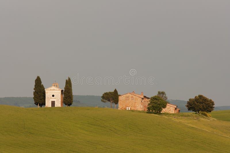 Cappella della Toscana fotografia stock libera da diritti