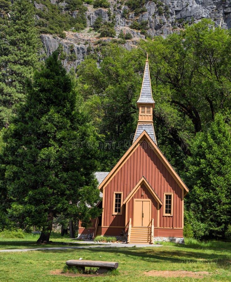 Cappella della valle di Yosemite fotografie stock libere da diritti