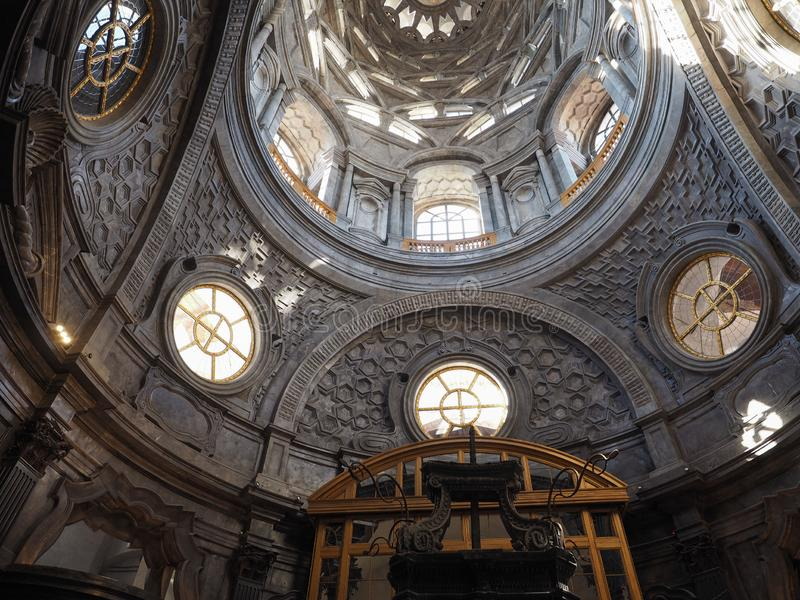 Cappella dellaSindone kupol i Turin arkivfoto