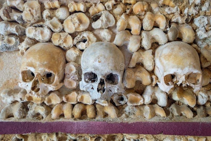 Cappella delle ossa Faro, Algarve, Portogallo immagini stock