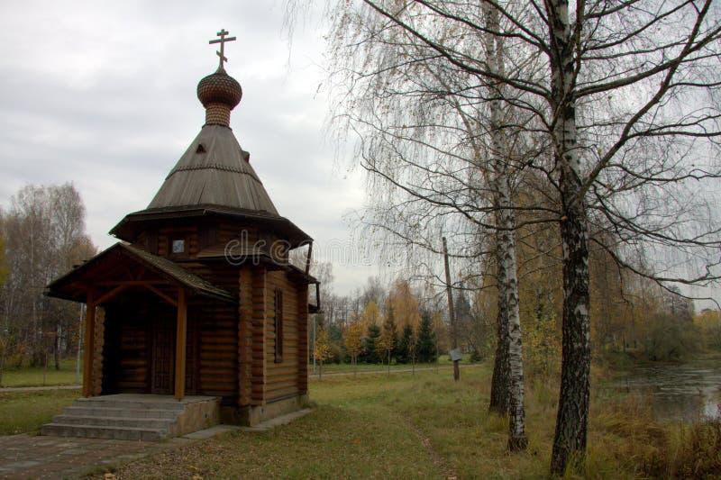 Cappella di legno fotografie stock