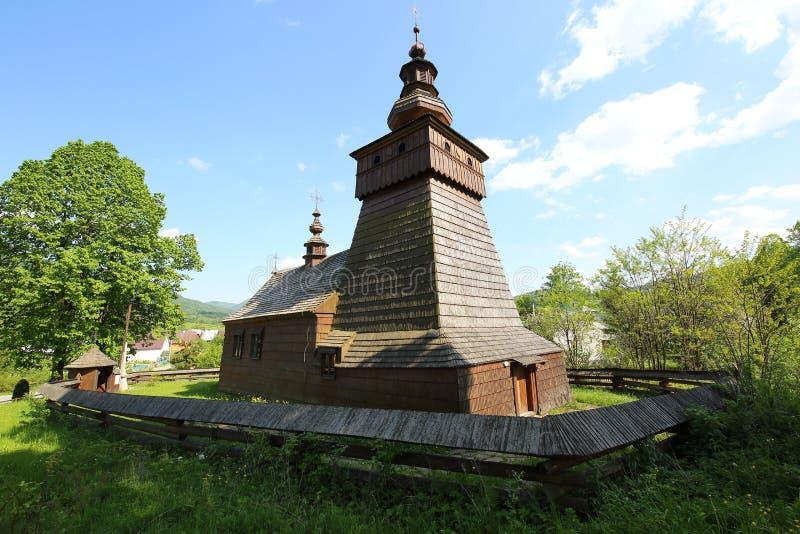 Cappella di legno Fricka fotografia stock