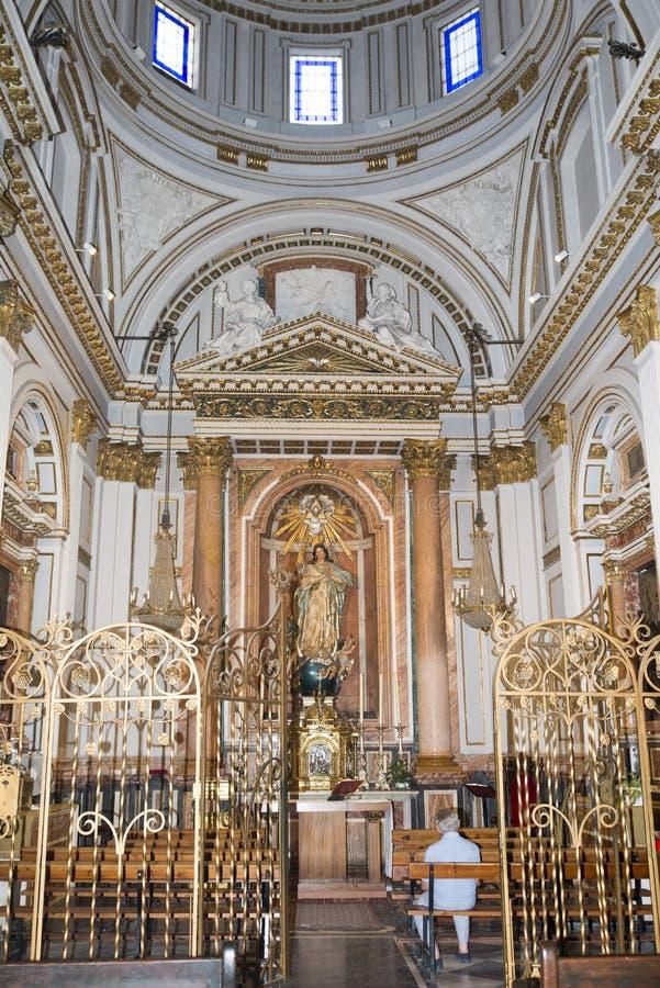 Cappella di Santo Tomas de Villanueva, la cattedrale di St Mary, Valencia fotografia stock libera da diritti