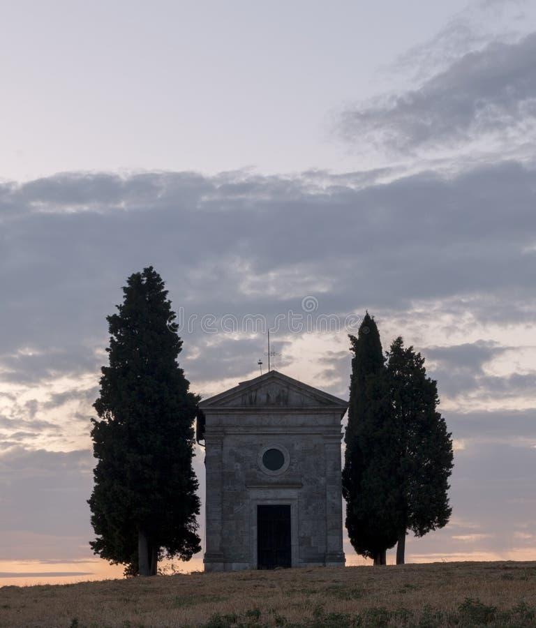Cappella di Vitaleta royalty free stock photos