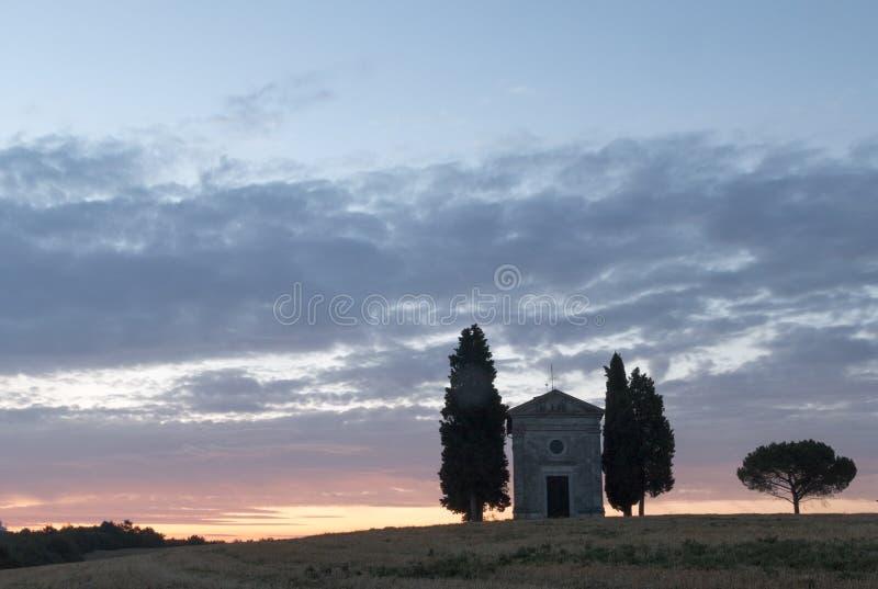 Cappella di Vitaleta royalty free stock images