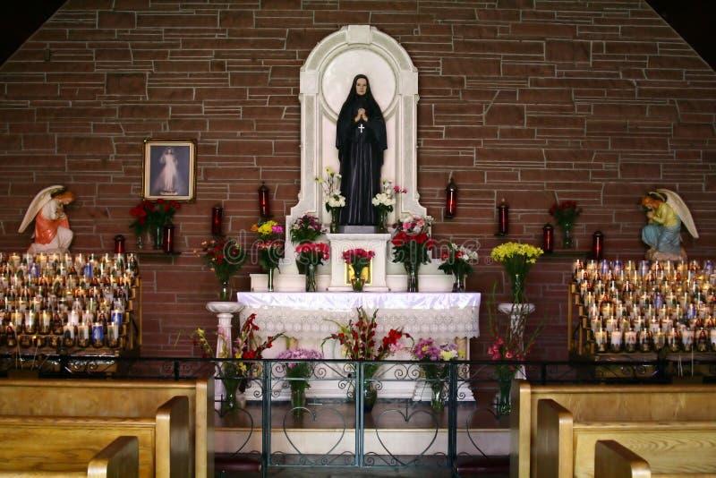 Cappella e ritirata di Cabrini della madre immagini stock