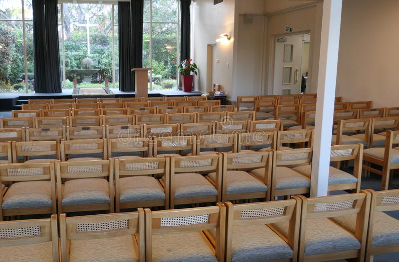 Cappella o pompe funebri religiosa per funerale immagine stock