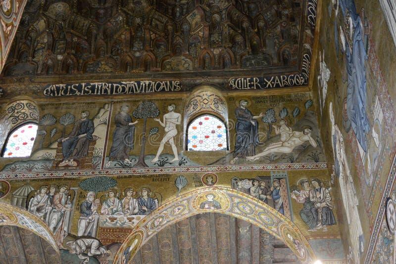 Cappella Palermo Sicilia del palatino fotografie stock libere da diritti