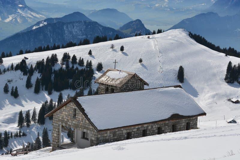 Cappella Regina Montium della montagna immagini stock