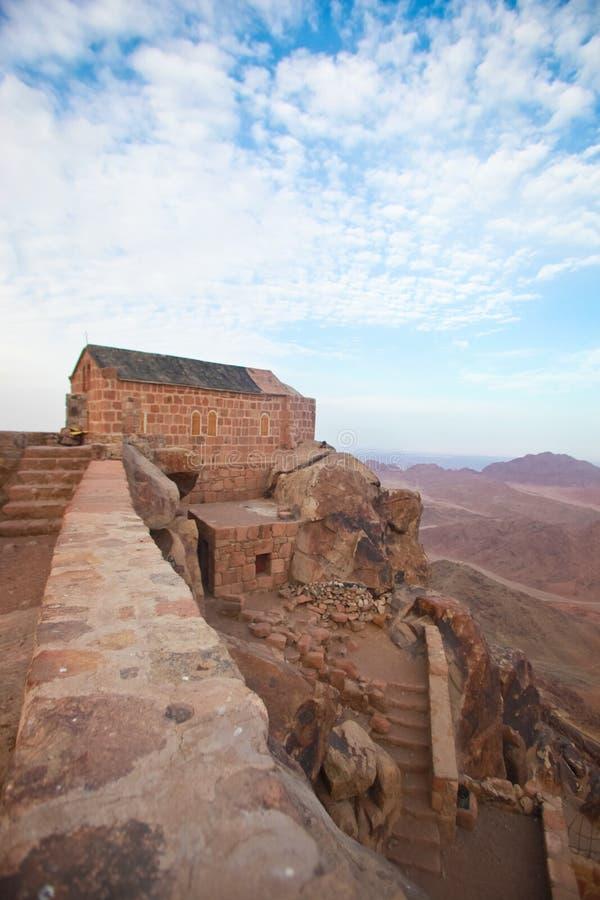 Cappella sul monte Sinai fotografia stock libera da diritti