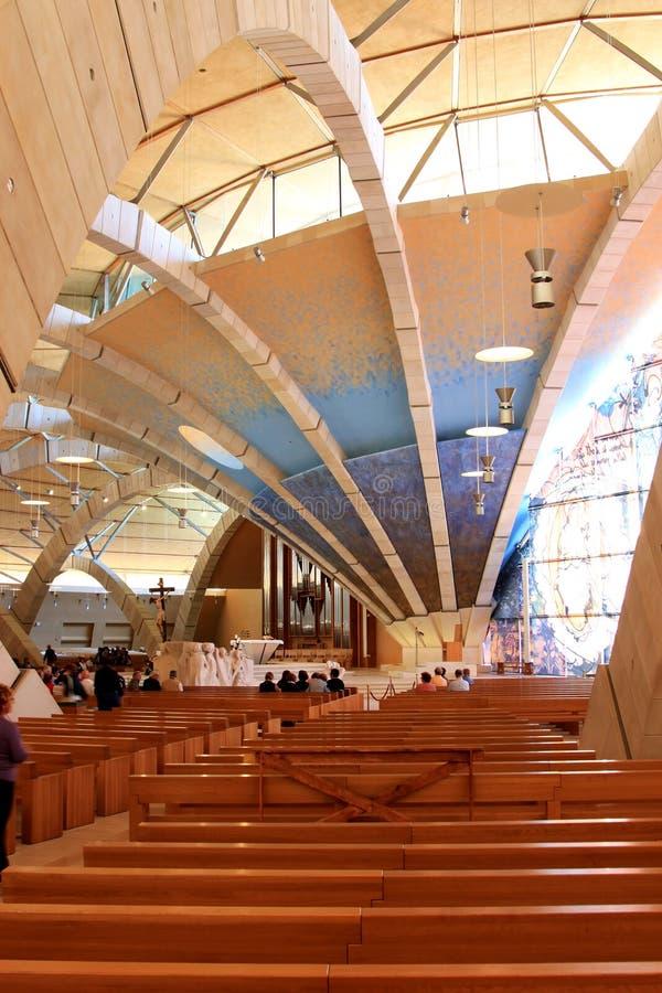 Cappellano contemporaneo Pio Pilgrimage Church, Italia fotografie stock libere da diritti