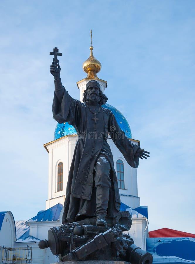 Cappellano del monumento in Maloyaroslavets immagini stock