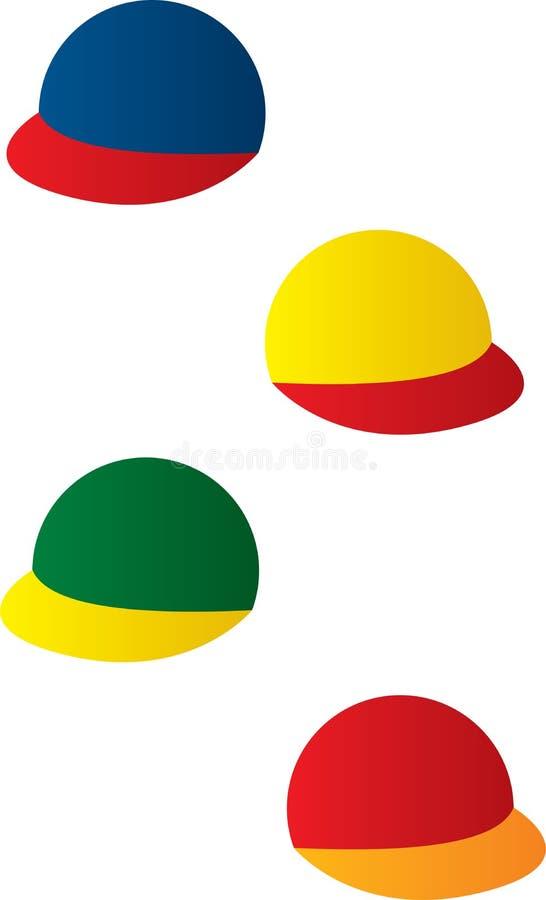 Cappelli capi variopinti o protezioni illustrazione vettoriale