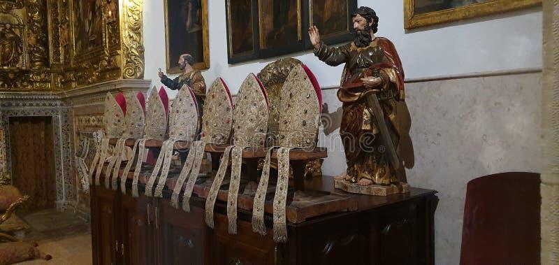 Cappelli cristiani Lisbona Portogallo immagine stock libera da diritti