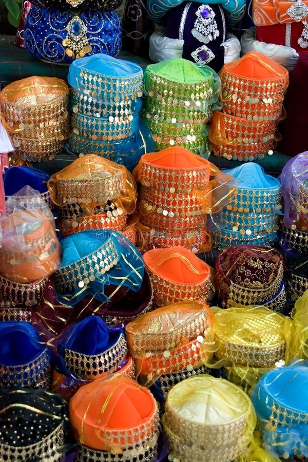 Cappelli del Medio-Oriente del danzatore di pancia fotografia stock