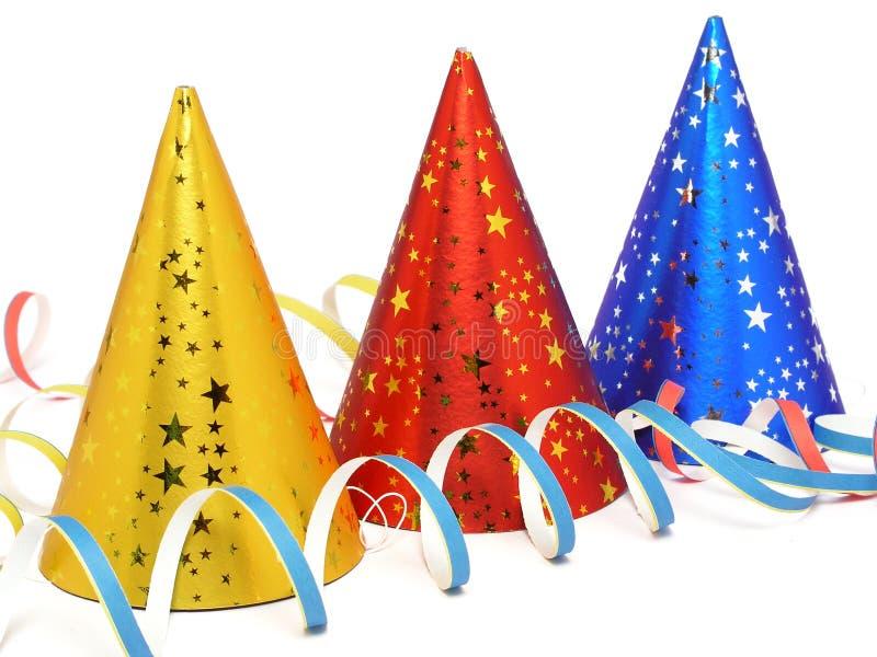 Cappelli del partito immagine stock