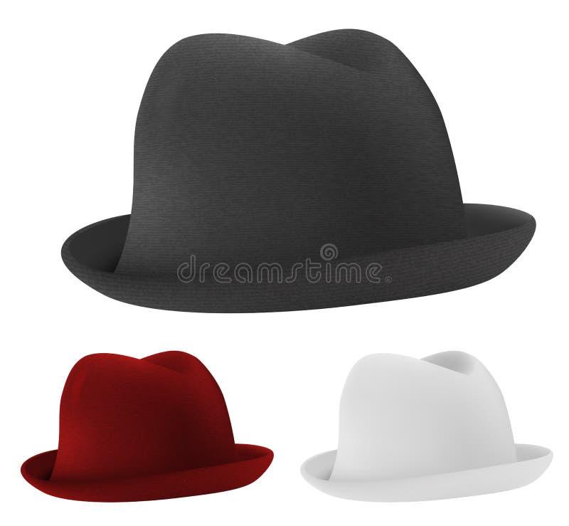Cappelli di giocatore di bocce royalty illustrazione gratis